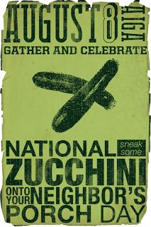 Today is National Zucchini Day ~ Zucchini Recipes .~Daily Dish with Foodie Friends Friday