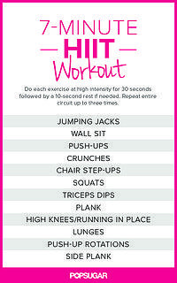 7-Minute HIIT Workout. No excuses #workout #motivation <3 Visit www.thatdiary.com for tips + advice on health & fitness