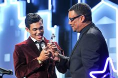Roshon Fegan gets the #Rising #Star Award at the Big Brothers Big Sisters LA Gala at Beverly Hilton Hotel on Oct 26, 2012