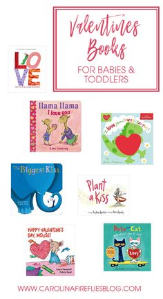 Valentine's Day books ideas for babies and toddlers. A great gift idea in lieu of candy! A fun tradition for family and friends!
