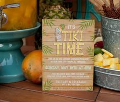 Tiki Party Invitation | Modern Moments