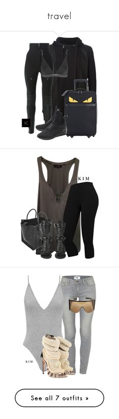 """travel"" by kimberlythestylist ❤ liked on Polyvore featuring 11 by Boris Bidjan Saberi, Dsquared2, Fendi, Puma, Calvin Klein Underwear, Isabel Marant, CÉLINE, BOSS Black, Paige Denim and Giuseppe Zanotti"
