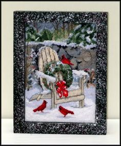 """Christmas In The Adirondacks"" from Dimensions The Gold Collection - - Created by Linda Walsh"