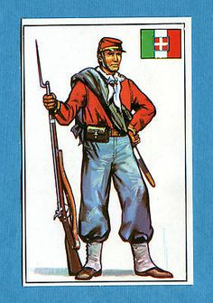 ARMI E SOLDATI - Edis 71 - Figurina-Sticker n. 279 - VOLONTARIO GARIBALDINO -Rec