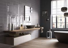 PIASTRELLE CENTO PER CENTO, bagno moderno ceramica bicottura #ImolaCeramica http://www.imolaceramica.com/it/prodotti/collezione/cento-per-cento/