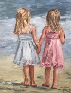 Girls on the beach painting of girl, painting people, figure painting, pi. Body Painting Men, Oil Painting On Canvas, Painting People, Figure Painting, Pictures To Paint, Art Pictures, Dancing Figures, Beach Art, Beautiful Paintings