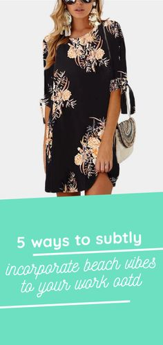 5 Ways to (Subtly) Incorporate Beach Vibes to Your Work OOTD Summer Office Wear, Plain Tops, Work Skirts, Boho Pants, Business Attire, Work Wardrobe, 5 Ways, Summer Beach, Ootd