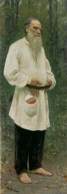 Ilya Efimovich Repin - Portrait of Lev Tolstoy (1828-1910) 1901