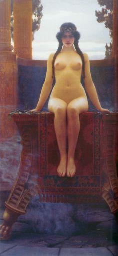 """John William Godward """"The Delphic Oracle"""" 1899"""