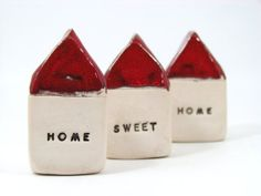 Home Sweet Home Message houses set Miniature houses  by orlydesign, $55.00