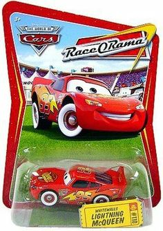 Disney / Pixar CARS Movie 1:55 Die Cast Car Series 4 Race-O-Rama Whitewalls Lightning McQueen by Mattel. $11.95. 1:55 Scale. Disney / Pixar CARS Movie 1:55 Die Cast Car Series 4 Race-O-Rama Whitewalls Lightning McQueen. Disney / Pixar CARS Movie 1:55 Die Cast Car Series 4 Race-O-Rama Whitewalls Lightning McQueen  by Mattel is new in factory sealed plastic blister on Race O Rama background card as shown in photo
