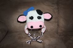 Cow/Bull Hat PATTERN size newborn to adult by CuteCapes on Etsy, $5.09