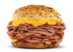 Arby's Copycat Recipes: Arby's Roast Beef Sandwiches: These  were REALLY good! We used 1 pound of roast beef from the deli and only 2 hours in the crockpot. I would half the brown sugar and double the water. I admit...I love me some Arby's.