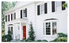 Image result for colonial house front door overhang