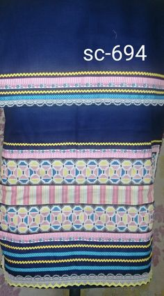 Royal blue rida with geometric x stch panel... email for further details