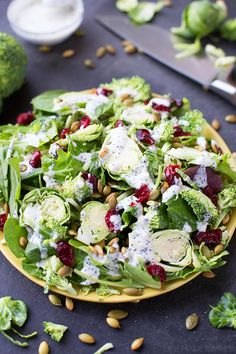 This superfood salad is packed full of greens and loaded with veggies. Topped with cranberries, toasted pumpkin seeds and a homemade poppy seed dressing- it packs a powerful punch!