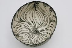 cheryl malone pottery black white sgraffito idea