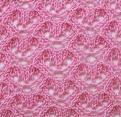 openwork knit stitch More - Knitting Stiches, Knitting Charts, Lace Knitting, Knit Crochet, Knitting Patterns Free, Lace Patterns, Textile Patterns, Stitch Patterns, Crochet Patterns
