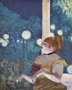 """Edgar Degas, """"The Song of the Dog"""" (At the - """"Cafe Concert"""")"""