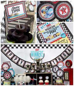 vintage race car boy's birthday party www.spaceshipsandlaserbeams.com