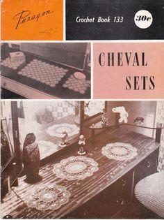 Paragon Crochet Book No 133 Cheval Sets   by jennylouvintage