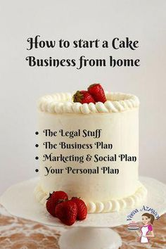 Learn to start your own home-based cake business with this easy to step by step tutorial. Divided into four sections, each explained well so you know what you need to do to start a cake business from home. Creative Cake Decorating, Cake Decorating Techniques, Creative Cakes, Cookie Decorating, Decorating Cakes, Cake Decorating Tutorials, Cake Decorations, Decorating Ideas, Home Bakery Business