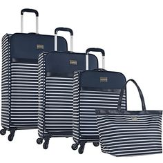 Luggage Sets Collections | Tommy Bahama Cancun 4 Piece Luggage Set Blue >>> You can get additional details at the image link. Note:It is Affiliate Link to Amazon. #QualityStylishLuggageSets