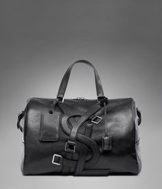 61d95a7936a2 YSL Vavin Duffle Bag in Black Classic Leather - Travel – Bags – Men – Yves
