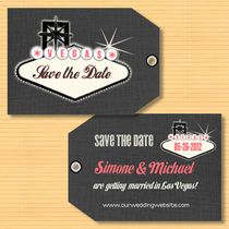 Luggage Tag Save the Date  Las Vegas