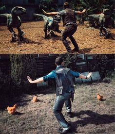 Zookeepers are recreating Chris Pratt's moves from Jurassic World and IT IS HILARIOUS.