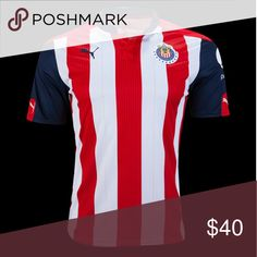 Chivas de Guadalajara Soccer Jersey 16/17 * Brand new and never opened Home colors Jersey od one of the most famous Soccer Team in Mexico.  Many other teams available too. Contact me for details. Puma Shirts Tees - Short Sleeve