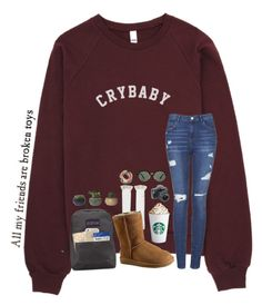 """""""Day 5:: Touring Dallas"""" by mmprep ❤ liked on Polyvore featuring Topshop, JanSport, Legale, UGG, Penguin Group, ALPHA, Ray-Ban and madimadsfall2k16"""