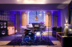 Arcadium Studios Live Room with a wide variety of instruments and amps