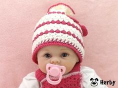 #Häkelanleitung für eine #Babymütze aus feiner #Merinowolle! Bild anklicken und #Anleitung downloaden! https://www.crazypatterns.net/de/shop/herbys-trendartikel