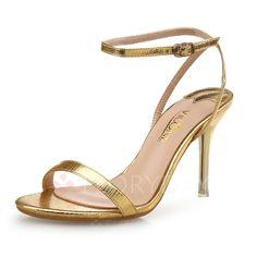 Shoes - $39.31 - Women's Sandals Pumps Peep Toe Slingbacks Stiletto Heel Leatherette Shoes (1625120343)