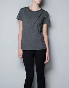 T-SHIRT WITH CHAIN DETAIL - T-shirts - Woman - ZARA United States