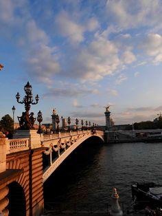 Ponte Alexander III - the Alexander III Bridge. One of the most romantic sites in Paris!