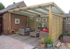 Backyard shade structure covered patios 50 Ideas for 2019 Backyard Shade, Backyard Patio Designs, Backyard Landscaping, Pergola D'angle, Corner Pergola, Pergola Kits, Modern Pergola, Black Pergola, Steel Pergola