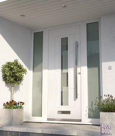 61 Ideas for modern front door colors decor Modern Entrance Door, Modern Front Door, House Front Door, House Entrance, Traditional Front Doors, Composite Front Door, Contemporary Front Doors, Front Doors With Windows, Front Porch Design
