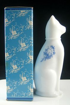 avon perfume bottle - white cat