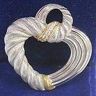 Appraised $149 Judith Ripka Silver and CZ Heart Pendant H9 - $149, Appraised, Heart, Judith, pendant, Ripka, silver - http://designerjewelrygalleria.com/judith-ripka/judith-ripka-pendants/appraised-149-judith-ripka-silver-and-cz-heart-pendant-h9/