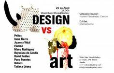"""Inauguracion design vs art wabisabi. El próximo viernes,  25 de Abril a partir de las 21:00h. tendrá lugar en Sevilla la inauguración de """"Design vs Art"""", una nueva exposición colectiva de artes plásticas en WABISABI Shop & Gallery."""