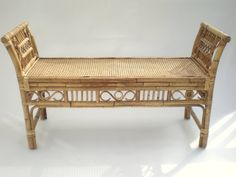 Bamboo Brighton Pavilion Rattan Bench / Chippendale by GreenZebre