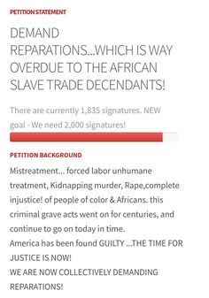 Reparations For Slavery, Decendants, Forced Labor