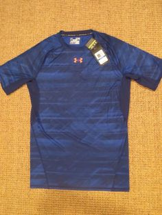 NEW  UNDER  ARMOUR MEN'S XL  COMPRESSION  HEAT GEAR  SHIRT  X  LARGE  BLUE NWT #UnderArmour #Jerseys