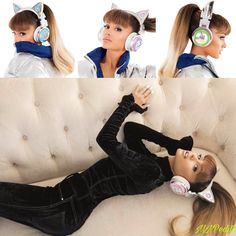Ariana's cat ear headphones