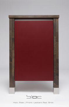 Colour your kitchen | Massivholz | Küche | Korpus | Peat - Lackiert Red- Brick