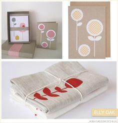 screenprinted textiles and paper goods by Australian designer Elly Oak  (creaturecomfortsblog.com)