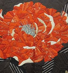 "Close-up of ""Zen"" by Yoshiko Katagiri,  Japan, PIQF 2012 ""Life"" exhibit.  Photo by Quilt Inspiration"