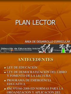Plan lector - dispositivas